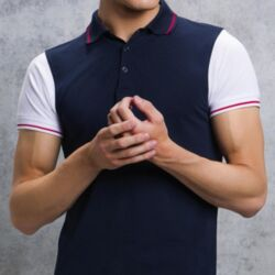 KUSTOM KIT<br>Contrast Tipped Polo Thumbnail